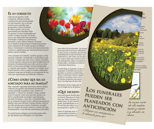 Spanish Brochure - Los Funerales Pueden Ser Planeados Con Anticipación