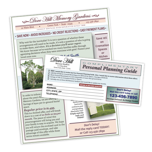 Cemetery Discount Letter