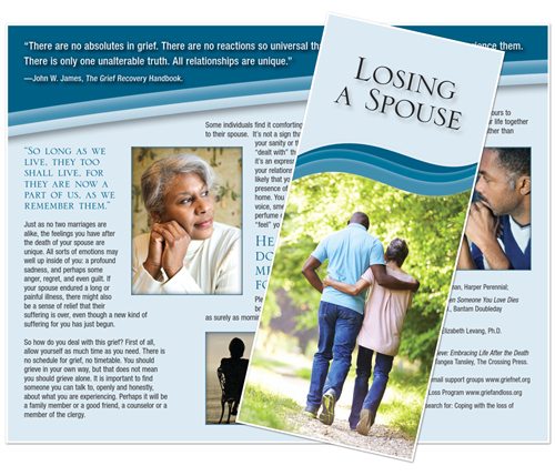 Grief Brochure - Losing a Spouse (Walking)