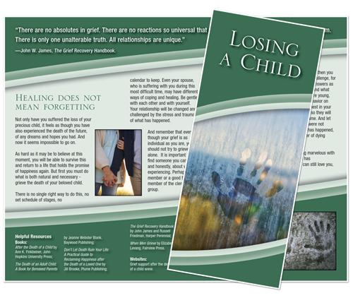 Grief Brochure - Losing a Child (Handprint)