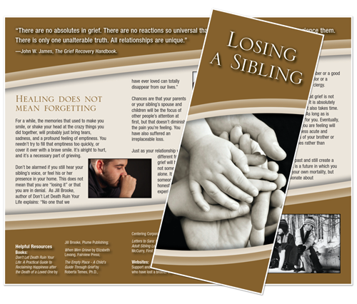 Grief Brochure - Losing a Sibling (Comfort)