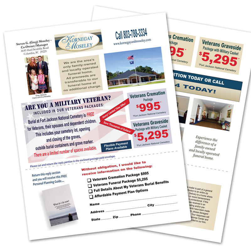 Veterans Funeral/Cremation Discount Tri-fold