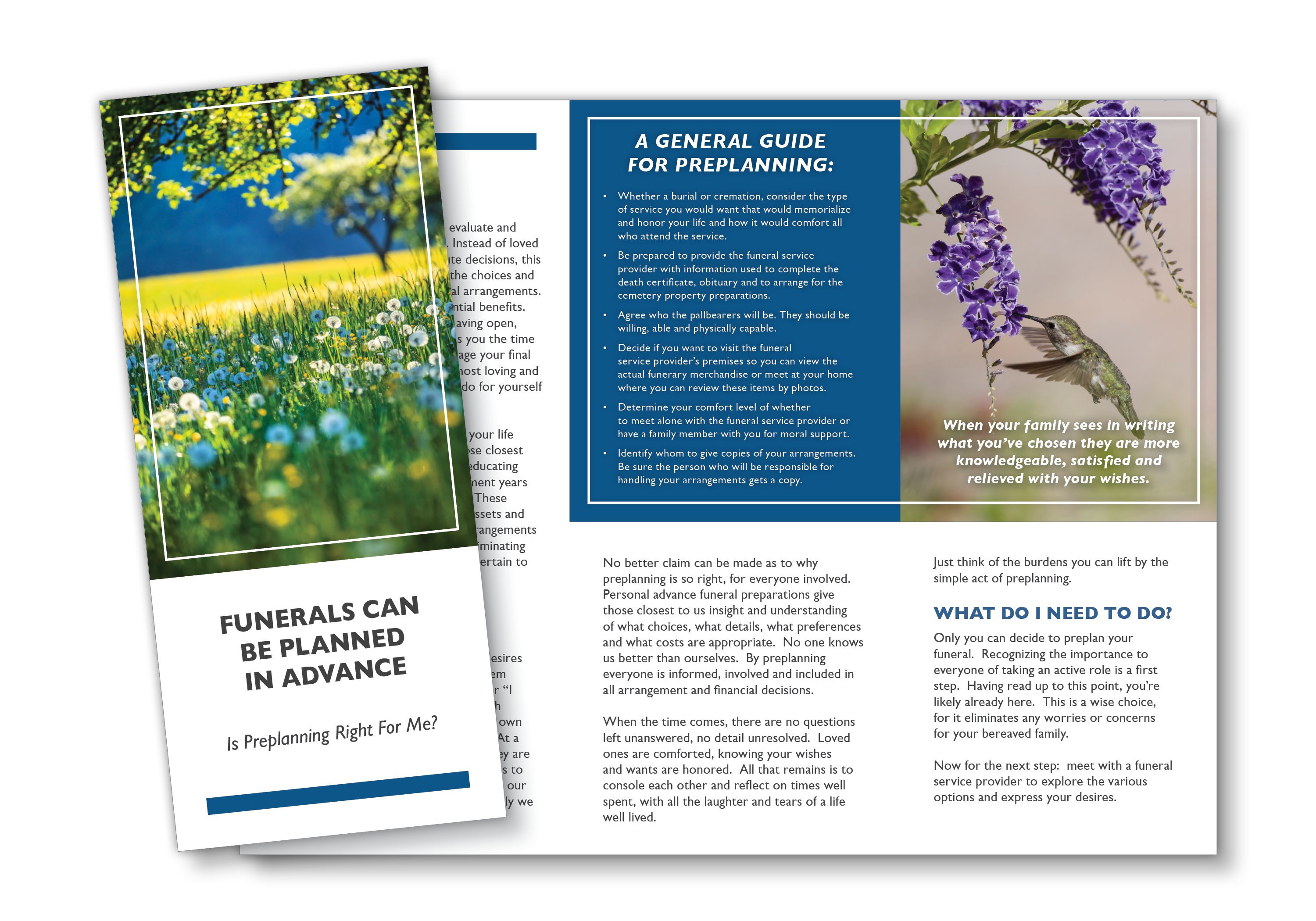 Preplanning Brochure - Funerals Can Be Planned In Advance